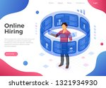 isometric job agency employment ... | Shutterstock .eps vector #1321934930