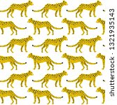 seamless pattern with leopards... | Shutterstock .eps vector #1321935143