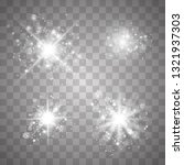 set glow light effect with... | Shutterstock .eps vector #1321937303