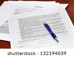 contract signing | Shutterstock . vector #132194039