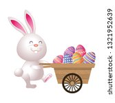 easter rabbit cartoon | Shutterstock .eps vector #1321952639