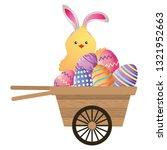easter chicken cartoon | Shutterstock .eps vector #1321952663