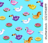 swimming toys seamless pattern. ... | Shutterstock .eps vector #1321956899