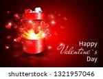 valentine background  open gift ... | Shutterstock . vector #1321957046