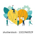 vector illustration  routine... | Shutterstock .eps vector #1321960529