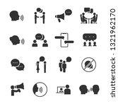 vector set of talking people... | Shutterstock .eps vector #1321962170