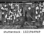 colorful lobster floats hang on ... | Shutterstock . vector #1321964969