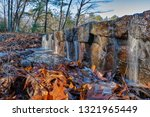 man made dam at sunrise with a... | Shutterstock . vector #1321965449