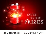 open gift box with surprise and ... | Shutterstock . vector #1321966439