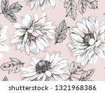 seamless floral pattern. white... | Shutterstock .eps vector #1321968386