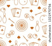 seamless pattern with bowling... | Shutterstock .eps vector #1321970756