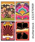 1960s psychedelic backgrounds... | Shutterstock .eps vector #1321970909