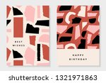 a set of two greeting card... | Shutterstock .eps vector #1321971863
