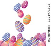 easter eggs cartoon | Shutterstock .eps vector #1321971923
