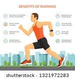 man running jogging outdoors....   Shutterstock .eps vector #1321972283