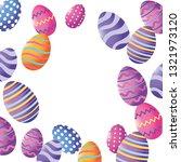 easter eggs cartoon | Shutterstock .eps vector #1321973120