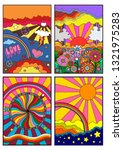 1960s hippie style backgrounds  ... | Shutterstock .eps vector #1321975283