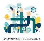 vector illustration  concept... | Shutterstock .eps vector #1321978076
