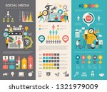 social media infographic. work... | Shutterstock .eps vector #1321979009