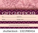 elegant voucher template and...   Shutterstock .eps vector #1321980416