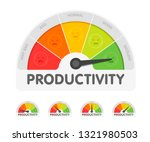 productivity meter with... | Shutterstock .eps vector #1321980503