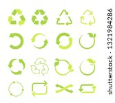 recycled eco vector icon set ... | Shutterstock .eps vector #1321984286