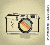 rangefinder camera illustration ... | Shutterstock .eps vector #132198698