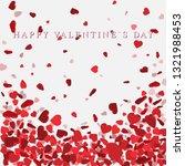 heart confetti of valentines... | Shutterstock . vector #1321988453