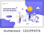 landing page with group of... | Shutterstock .eps vector #1321994576