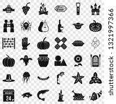 halloween icons set. simple...   Shutterstock .eps vector #1321997366