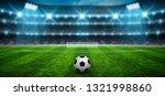 soccer ball on stadium...   Shutterstock . vector #1321998860