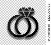 wedding rings with diamond ...   Shutterstock .eps vector #1322004713