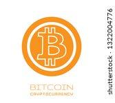 bitcoin symbol in flat design.