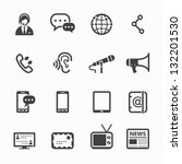 communication icons with white... | Shutterstock .eps vector #132201530