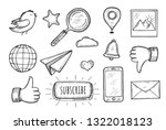 vector illustration of widgets... | Shutterstock .eps vector #1322018123