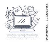 vector illustration with...   Shutterstock .eps vector #1322018456