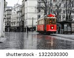 Red Nostalgic Tram Is Moving O...