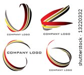 set of four company logos in... | Shutterstock .eps vector #13220332