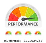performance meter with... | Shutterstock .eps vector #1322034266