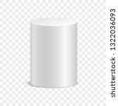 white cylinder. isolated on... | Shutterstock .eps vector #1322036093