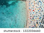 aerial view of sandy beach with ...   Shutterstock . vector #1322036660