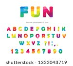 modern colorful font. bright... | Shutterstock .eps vector #1322043719