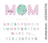 cute textile font in pastel... | Shutterstock .eps vector #1322043743