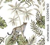 tropical vintage botanical... | Shutterstock .eps vector #1322044760