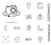 rotate camera icon. photography ...