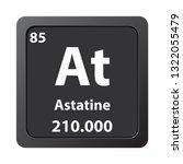 astatine  chemical element icon....   Shutterstock .eps vector #1322055479