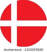 denmark   flag. simple vector... | Shutterstock .eps vector #1322055830