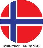 norway flag. simple vector... | Shutterstock .eps vector #1322055833