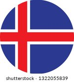 iceland  flag. simple vector... | Shutterstock .eps vector #1322055839