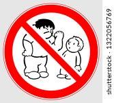 bullying sign. bullying circle...   Shutterstock .eps vector #1322056769